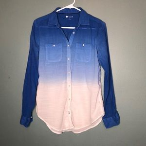 Stylus button up ombré shirt